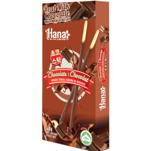 Chocolate Biscuit Sticks made with real milk chocolate